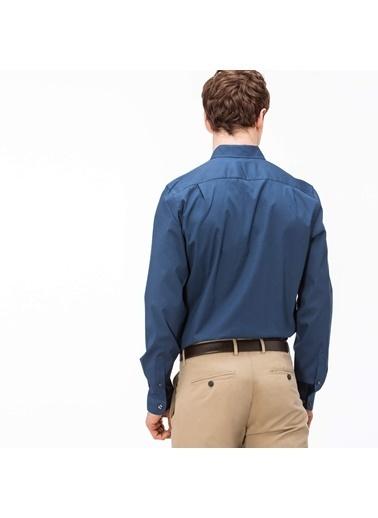 Lacoste Slim Fit Uzun Kollu Gömlek Lacivert